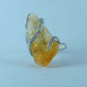 Anello quarzo citrino