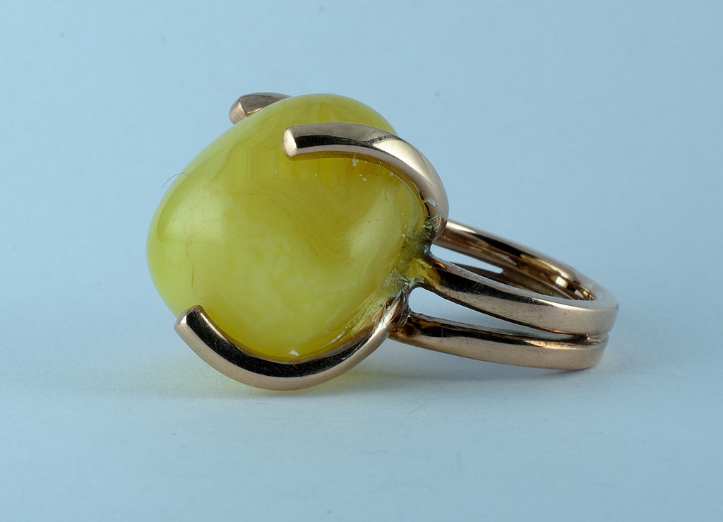 Anello agata gialla