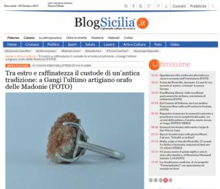 Fabio Ballistreri orafo su Blog Sicilia