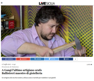 Fabio Ballistreri orafo su Live Sicilia