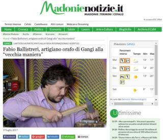 Fabio Ballistreri orafo su Madonie Notizie