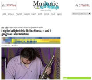 Fabio Ballistreri orafo su Madonie Press