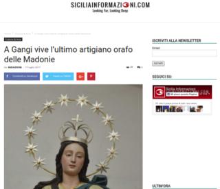 Fabio Ballistreri orafo su Sicilia Informazioni